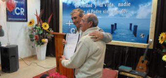Reconocimiento como Entidad de Bien Publico al Ministerio Internacional Cristo Rey entregado por El Intendente Municipal Daniel Di Sabatino